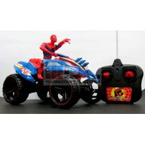 Hombre Araña Moto Cuatriciclo Radio Control+6 Pilas Regalo !