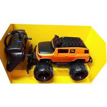 Camioneta 4x4 Radio Control 27mhz Bateria 1/20 22cm Naranja