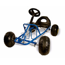 Karting Infantil Auto A Pedal Asiento Regulable Caño Reforz