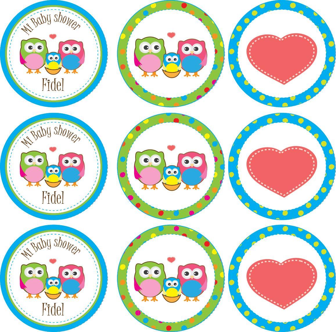 Baby Shower Kit Imprimible Lechuzas - $ 70,00 en MercadoLibre