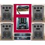 Combo Dj4bafles12 3vias+potencia Moon700w+mixer+mic Oferta!!