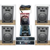 Combo4bafles15 3vias+potencia Moon700w+mixer+auri+mic Oferta