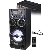Bafle Potenciado Parlante 80 Watts Rms Nr-b9001 Microfono
