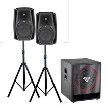 Sonido Combo Pro 2 Full 8 + Sub 15 Total 1300w Real + Pies