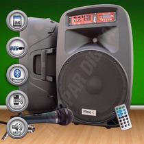 Par De Bafles Potenciado Reck 15´´usb Bluetooth Mic C.remoto
