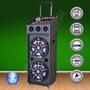 Bafle Potenciado 2 X 12´´ Bluetooth-sd-usb-mic-karaoke