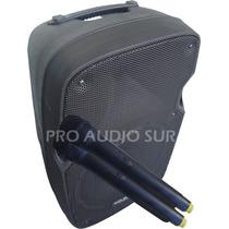 Bafle Potenciado Bateria Recargable Usb Mic Inalambrico 300w