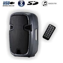 Bafle Potenciado 15 800w Bluetooth Usb Sd Radio Fm Bateria
