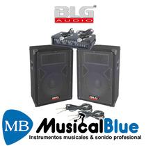 Sist De Sonido Blg Rmx110 2 Bafles 10 + 1 Consola Potenciada