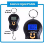 Balanza Digital Portátil 40kg. Para Valijas Y Pesca.