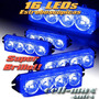 Balizas Estrobos Azul16 Led (movil N/i) Policia Ultra Brillo