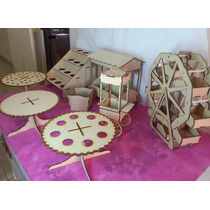 Combo Candy Bar 5 Productos Mdf Fibrofacil Somos Fabrica !!