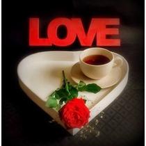 Bandeja Corazón Para Desayuno Enamorados San Valentin Amor