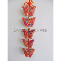 Tira Colgante 5 Mariposas Largo 50cm
