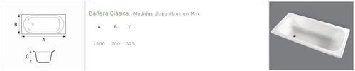 Bañera Acrilico Sanitario Antideslizante 1.50 X 0.70 Bagnara