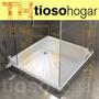 Plato Ducha 80 Acero Enlozado Receptaculo Loza Box No Fv