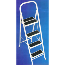 Escalera Metalica Plegable 4 Escal Platafor Doble Y Baranda