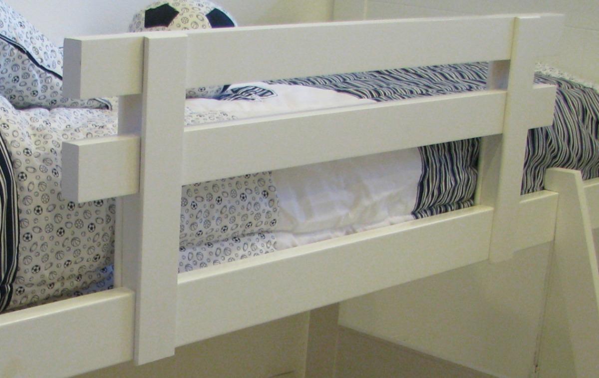 Pin barandas para camas bebes genuardis portal on pinterest for Cama de una plaza