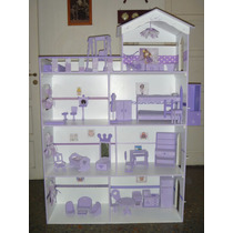 Casita Barbie 1,50m Ascensor/terraza/piscina/luz Promo!!!!!