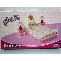 Gloria El Dormitorio Muñecas Cama Lampara C/luz Envio Inter