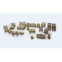 Set De Muebles Para Casas De Muñecas