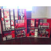 Casa Para Muñecas Barbies Ploteada Color 3 Pisos Armacabezas
