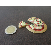 Pizza Miniatura Para Casa De Muñecas Barbies, Monster High.