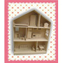 Casita De Muñecas Barbie Con Muebles!!! Lista Para Pintar...