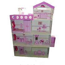Casita Barbie Xxl 1,40 M!c/terraza,piscina,lavadero Y Luz!