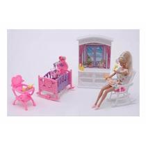 Gloria El Cuarto Del Bebe Muñecas Barbie Muebles