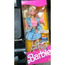 Barbie All American Caja Cerrada 1990 Original Mattel Mp