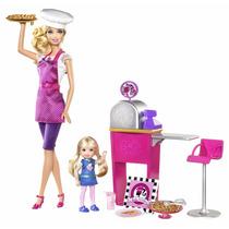 Barbie Pizza Chef , Art Teacher , Kitty Care Vet En Caja