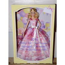 Barbie Collector Feliz Cumpleaños 2014 Orig Mattel, Usa!!!