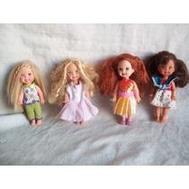 Lote De 4 Muñequitas Kelly - Hermana De Barbie