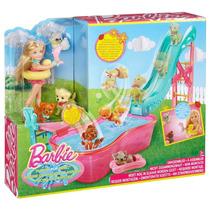 Barbie Chelsea Pileta Cachorritos Chelsea Tobogan De Mascota