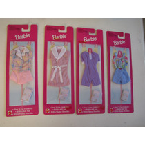 Barbie - 4 Sets De Conjuntos Para Dormir Nuevo En Caja