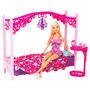 Barbie Glam Bedroom Muñeca Y Dormitorio Con Accesorios Cama