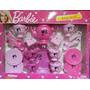 Set Completo De Te Barbie - 4 Invitadas - Original Miniplay