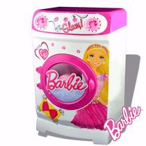 Lavarropas Barbie C Tambor Giratorio Con Accesorios Sticke