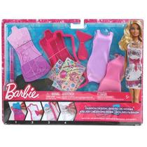 Barbie Fashion Desingn Mattel, Diseña Vestidos Para Barbie!