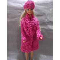 Sacones Y Tapados Tejidos Exclusivos Para Muñecas Barbies