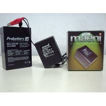 Cargador Baterias De Gel 6v Maeni 700 Mah Moto Plomo-calcio