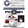 Batería Niño Power M 5 Cuerpos Con Platillos Y Fierros Nueva