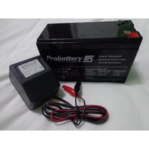 Bateria Gel 6v 10 Ah Ó 12v 7 Ah + Cargador Super Oferta