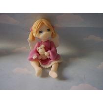 10 Souvenirs Angelitos En Porcelana Fria. Bautismo. Comunion