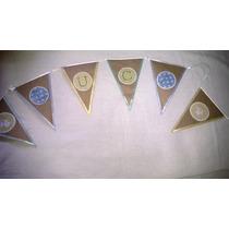 Banderines Con Nombre Para Bautismo O Comunion