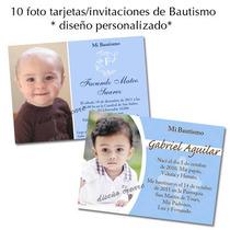 10 Hermosas Foto Tarjetas Invitacion Bautismo 1er Añito Nene