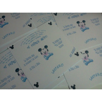 Invitaciones Mickey O Mickey Bebe Primer Añito O Bautismo