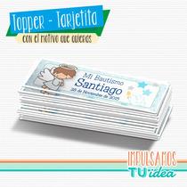 Bautismo Varón - Tarjetita Souvenir Para Imprimir Angelito
