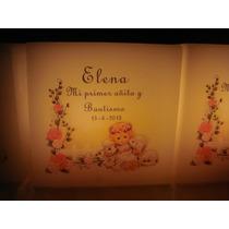 Fanal Personalizado 8x8+cinta+vela 15años/boda/cumple/bautis